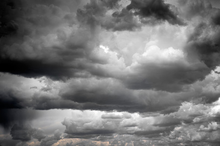 unpredictable: Stormy and rainy clouds