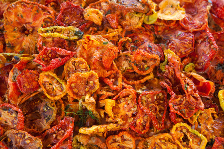 Beautiful dried tomatoes background