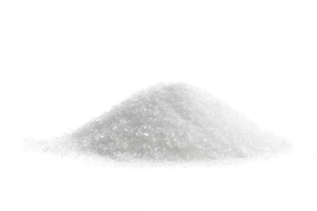 heap: Magnesium Sulfate, Epsom Salt, isolated on white