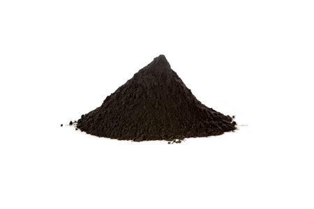 Zwart ijzeroxide, magnetiet, wordt gebruikt als zwart pigment, een katalysator en gebruikt in de farmaceutische industrie in een preparaat tegen bloedarmoede. Fe3O4 Stockfoto - 61476104