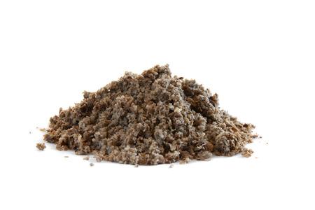 Empapado puré de pulpa de puré, una alternativa popular de heno, aislado en blanco Foto de archivo