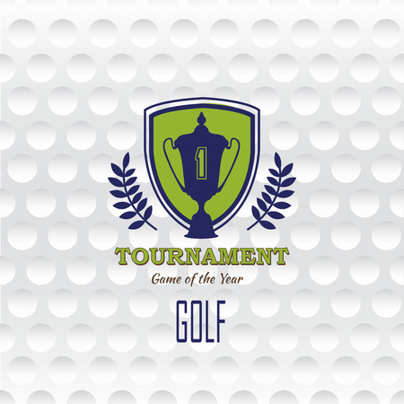 closed club: Golf background. Realistic texture of a golf ball. White clean background with a logo Illustration