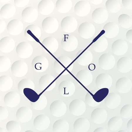 ゴルフ背景。ゴルフ ・ ボールのリアルな質感。白いきれいな背景