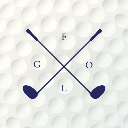 closed club: Golf background. Realistic texture of a golf ball. White clean background