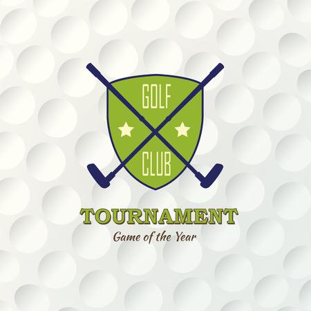 plastic: Golf achtergrond. Realistische textuur van een golfbal. Witte schone achtergrond