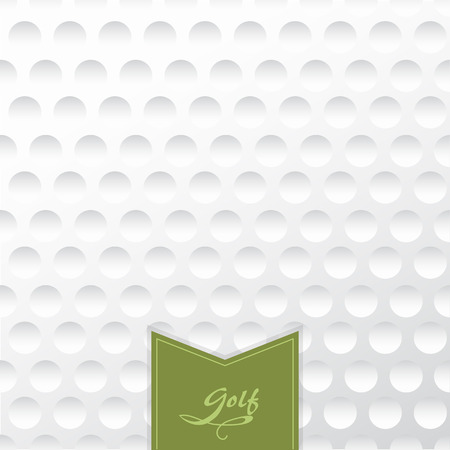 golf field: Golf background. Realistika texture of a golf ball. White clean background with a label.