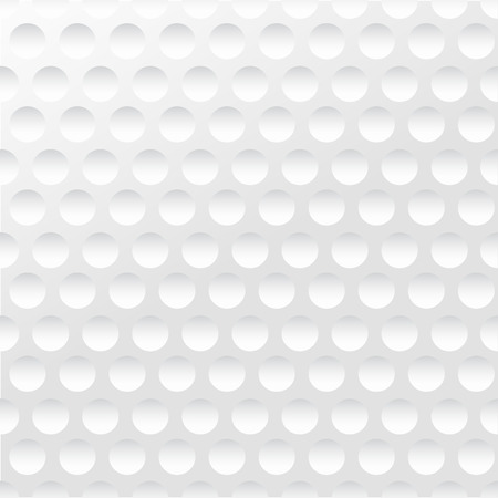 Golf background. Realistika texture of a golf ball. White clean background Ilustracja