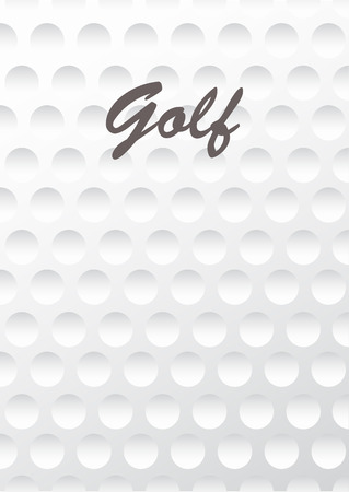 golf field: Golf background. Realistika texture of a golf ball. White clean background Illustration