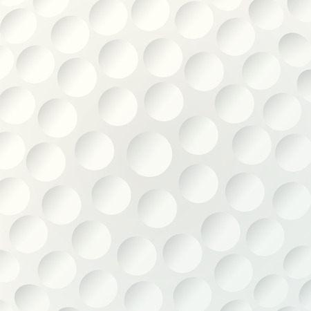 Golf background. Realistika texture of a golf ball. White clean background Vettoriali