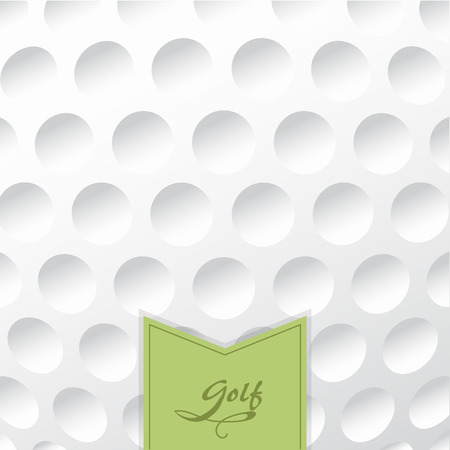 ball field: Golf background. Realistika texture of a golf ball. White clean background with a label.