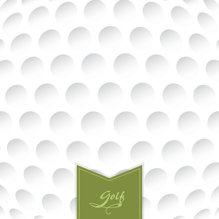 closed club: Golf background. Realistika texture of a golf ball. White clean background with a label.