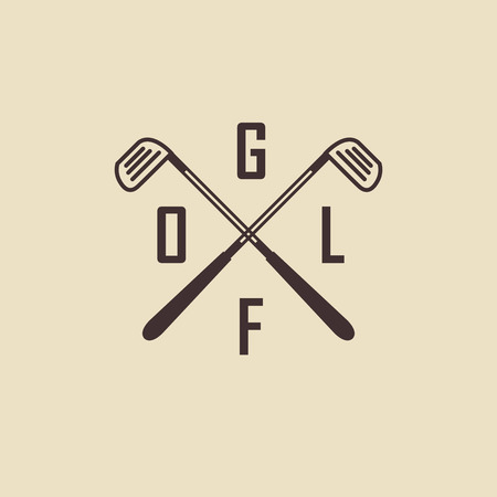 golf swings: Simple golf. Siluyut clubs for the game Illustration