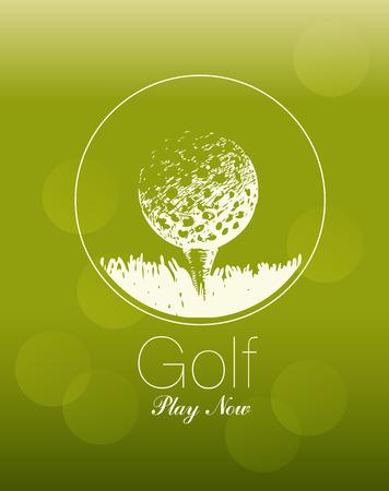 골프 공의 테마에 포스터. 지금 플레이.