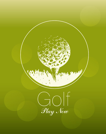 golf swing: The poster on the theme of golf ball. Play now.