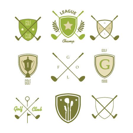 symbol sport: Symbole und Embleme Golf auf einem wei�en Hintergrund
