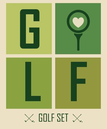 retro poster: Posrter on the subject of golf. I love golf. Illustration