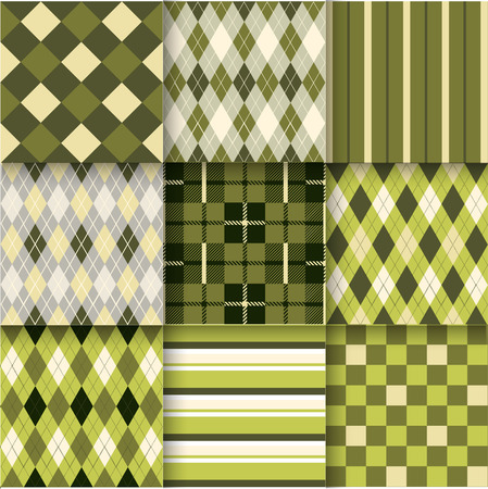 Fabric Texture: Pattern Swatches made with Global Color