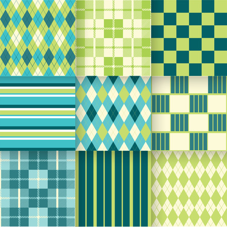 golf: Pattern Swatches made with Global Colors