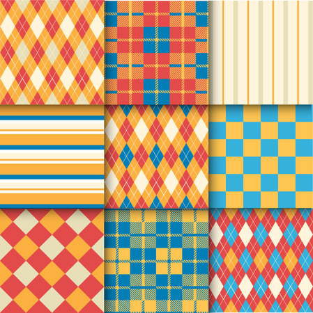 stylish decoration: Pattern Swatches made with Global Colors