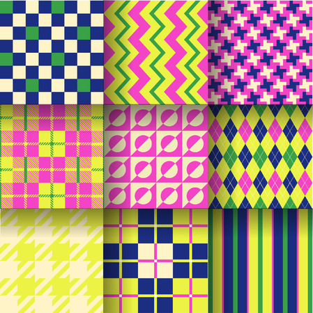 chartreuse: Pattern Swatches made with Global Colors