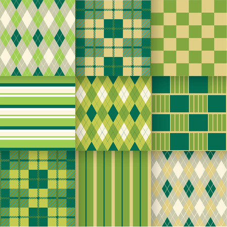 chartreuse: Vector illustration. Pattern Swatches made with Global Colors quick simple editing of color. Illustration