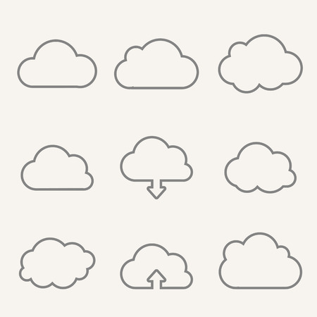 Upload from cloud icon Illustration