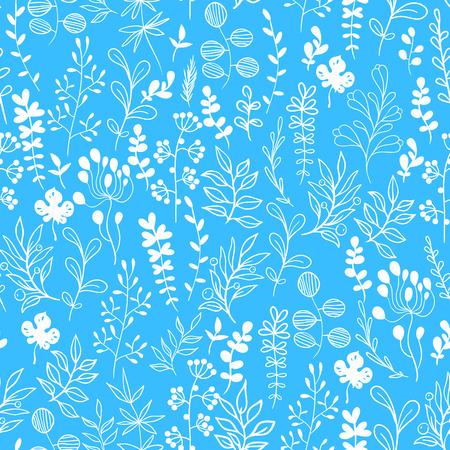 motif floral: Vector floral motif. Bleu ornement pour créer un design web et papier peint art. Illustration