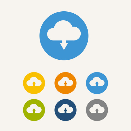 cloud icon: Upload from cloud icon Illustration