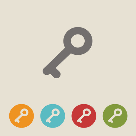 passkey: Set of keys icons.Simple silhouettes of keys for door. Illustration