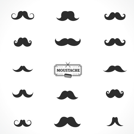 Set of simple elements and symbols for your design. Black & white. Hipster style Illustration