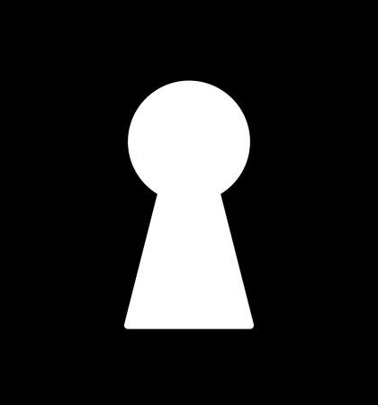 tecla enter: Silueta del ojo de la cerradura clásico. Plantilla simple. Símbolo para el diseño.