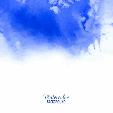 ultramarine: Ultramarine colour. Beautiful blurred watercolor background for your design and decoration.