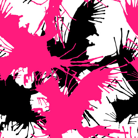 slap: Seamless background from a slap paint stains. Spray paint. Vector abstract illustration.
