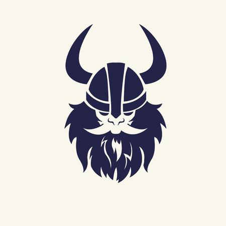 Stencil Bild Krieger. Kopf Emblem für Maskottchen Design. Vector illustration Mittelalterliche Waffen. Spiel-Icons. Cartoon-Stil. Standard-Bild - 42505358
