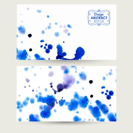 chinese brush: Blue watercolor background. Beautiful blurred watercolor background for your design and decoration Illustration