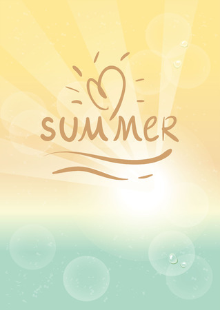 Vintage Beach poster with summer logo. Summer poster. Stock Vector - 43198214
