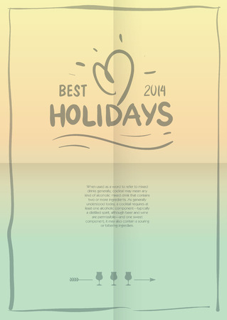 flair: Vintage Beach poster with holiday logo. Summer poster.