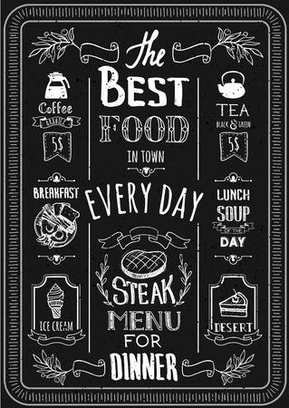 朝食、ランチ、ディナー、特別提供のメニュー。