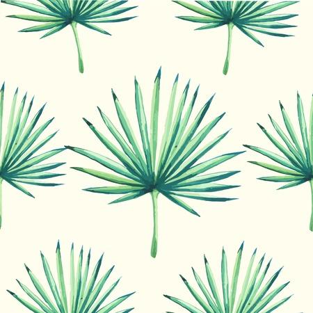 Schöne nahtlose Hintergrund mit tropischen Pflanze auf weiß. Nahtlose floralen Ornament mit Palmen. Hintergrund für Ihr Design und Dekor. Illustration