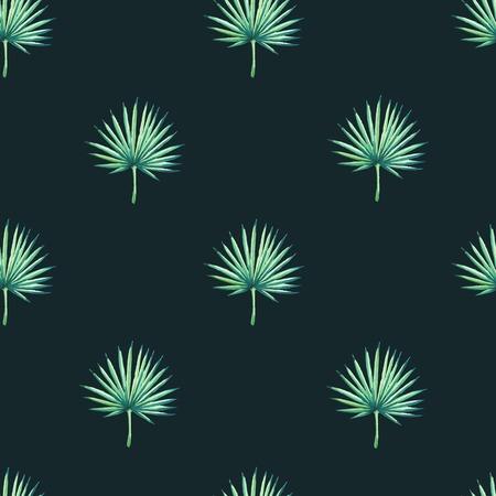 tropical plant: De fondo sin fisuras hermosa con plantas tropicales en negro. Ornamento floral sin fisuras con la palma. Antecedentes para el dise�o y la decoraci�n.