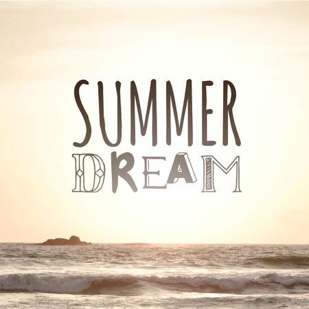 siervo: Verano puesta de sol junto al mar. Sue�o de verano. Vista del mar c�lido verano.