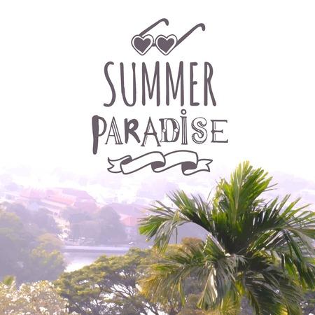 summer day: Summer day. Tropical landscape. Hello summer. Summer paradise.