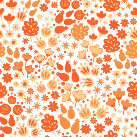 orange pattern: Cartoon elements for decoration and create your design.  Fabulous pattern on white background. Orange pattern.