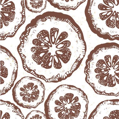 slice: Vector illustration with slice orange paettern. Illustration