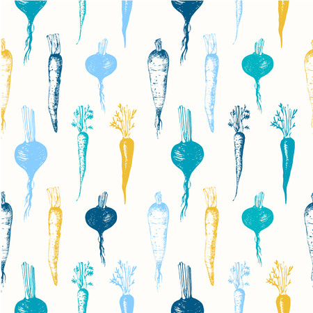 Fresh organic food.  Root vegetables background. Blue and yellow.