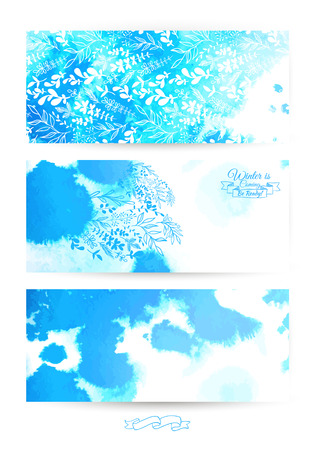 ray trace: Blue watercolor background. Beautiful blurred watercolor background for your design and decoration.