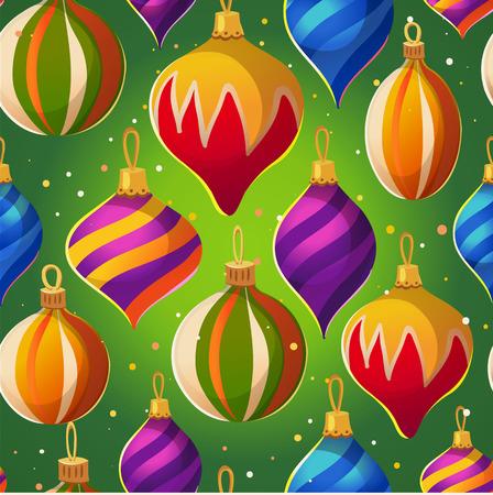 Vector illustratie met kerstfeestelijke patroon. Gelukkig nieuwjaar poster.