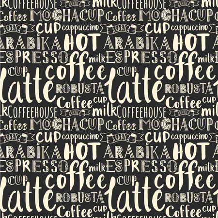 beautiful letters: Vector coffee illustration with hand drawn alphabet. Letters of the alphabet written with a brush.