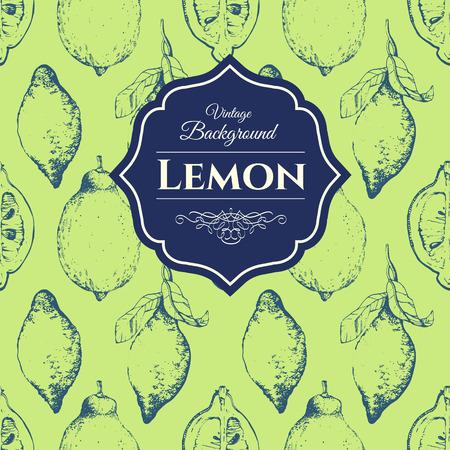 rinds: Fresh organic food. Vintage style. Vector hand-drawn sketch of lemon.