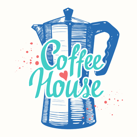 coffeehouse: Coffeehouse. Brush calligraphy elements for your menu design. Handwritten ink lettering.